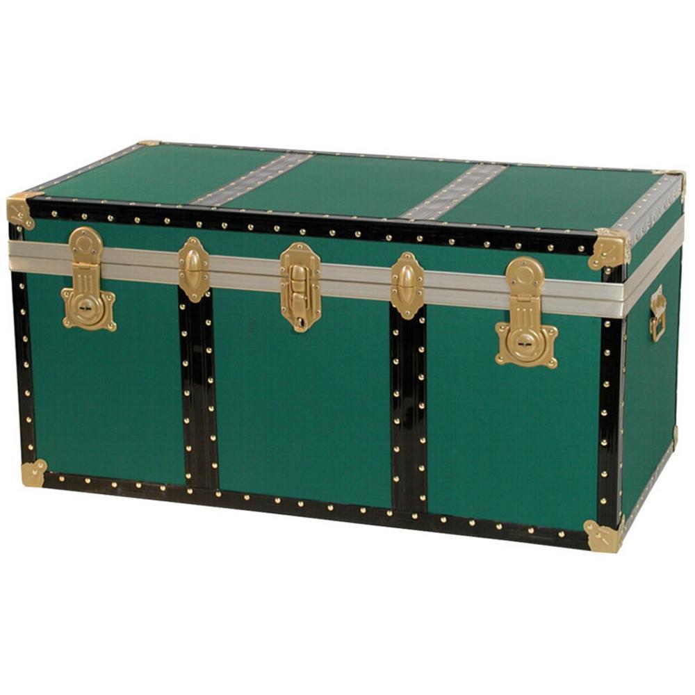 Baule contenitore portabiancheria 80x47xh46 cm 158 lt in legno pressato verde riolfo bauli - Come rivestire internamente un baule ...