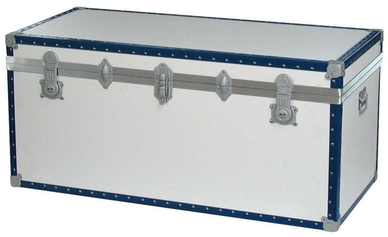 Baule contenitore portabiancheria in legno pressato 120x55xh55cm lt 330 bianco riolfo bauli - Mobili in cartone pressato ...