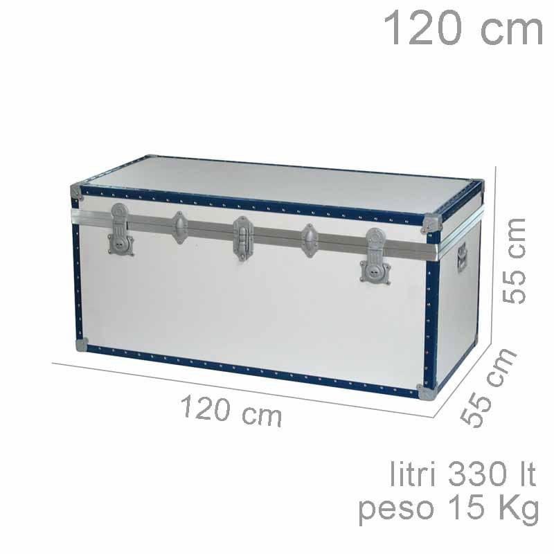 Preferenza Baule contenitore portabiancheria in Legno pressato 120x55xh55cm  GL96