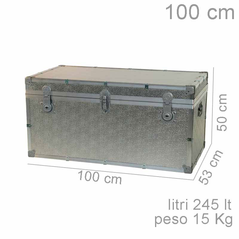 Baule contenitore portabiancheria in legno pressato 120x55xh55 cm ...