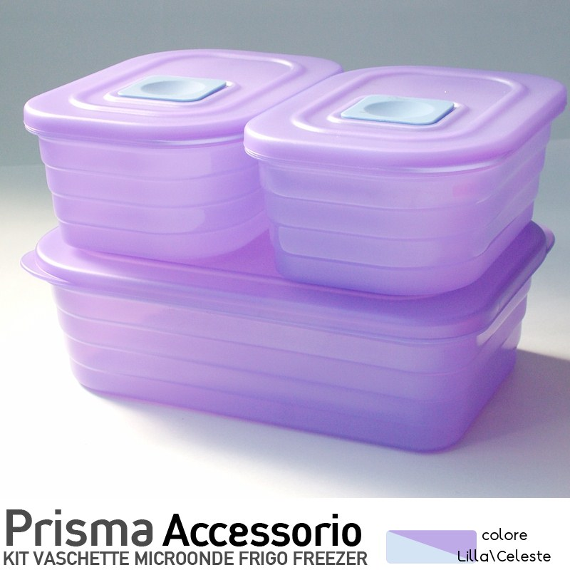 Contenitori prisma rett 3pz 3lt contenitori frigo for Contenitori per esterni in plastica