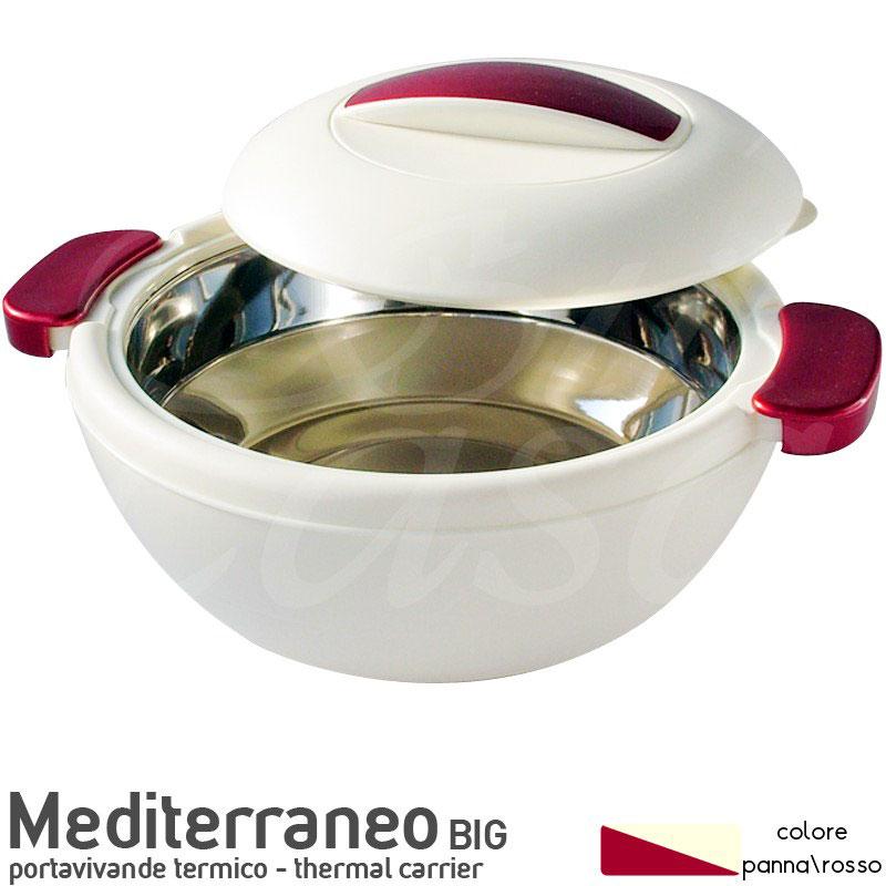 Contenitore termico rotondo per alimenti con vaschetta for Contenitori termici per alimenti