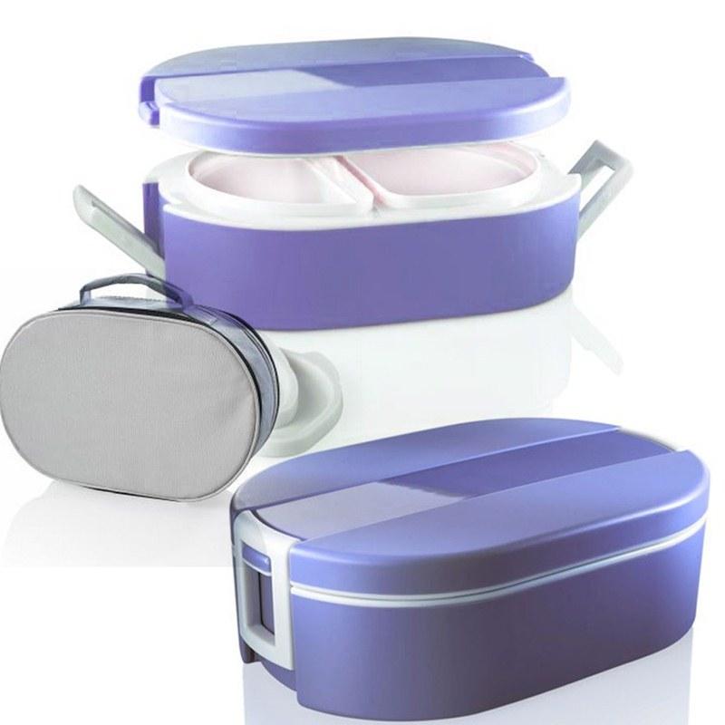 Lunchbox termico ovale per alimenti con vaschette interne for Contenitori termici per alimenti