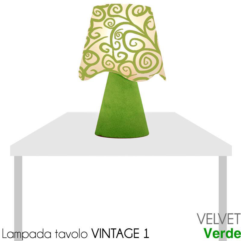 Lampada da tavolo vintage painting velvet stilcasa net - Lampade da tavolo vintage ...