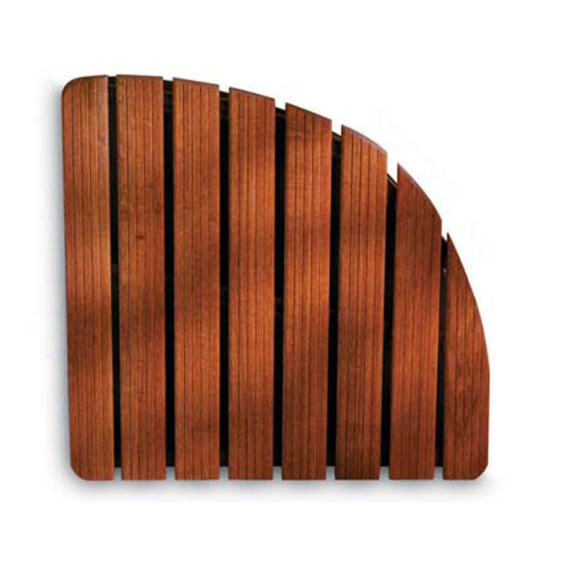 Pedana doccia in legno 74x74xh5 cm forma angolare dimensioni legno gombe con olio di lino aris - Olio di lino per mobili ...