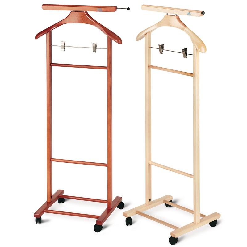 Indossatore portaabiti in legno massiccio con pinze per - Porta abiti da camera ...