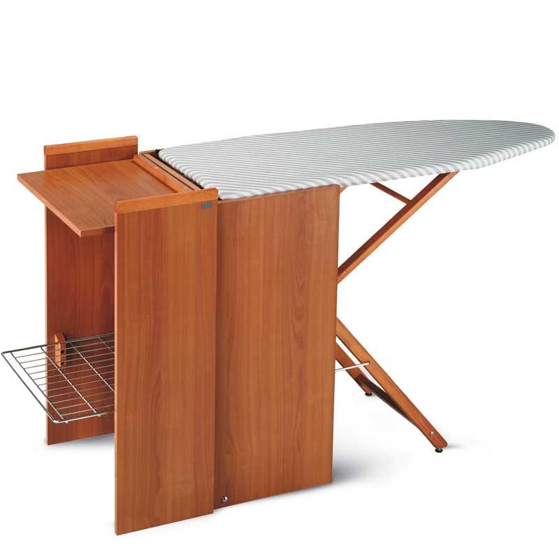 Asse da stiro mobiletto regolabile in altezza richiudibile for Asse da stiro in legno