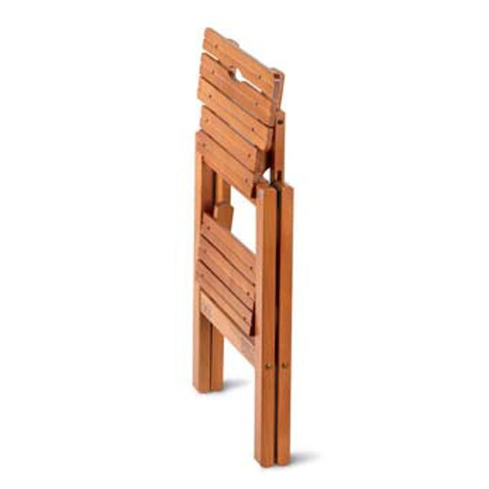 Sgabello due gradini in legno massiccio richiudibile BIBLIO 2 430x450xh470mm Peso 2.9Kg Ciliegio | Aris Italy