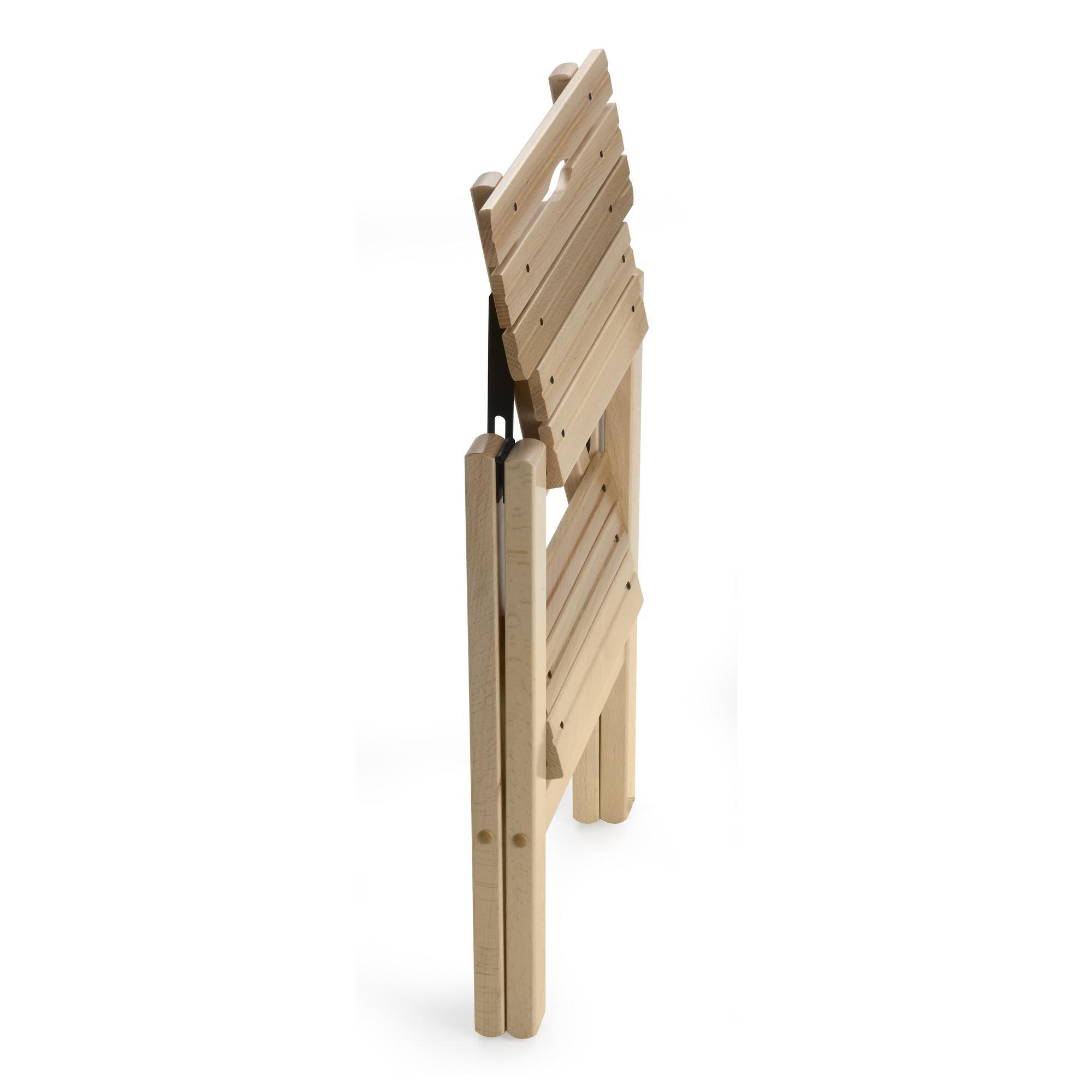 Sgabello due gradini in legno massiccio richiudibile BIBLIO 2 430x450x470mm Peso 2.9Kg Naturale | Aris Italy