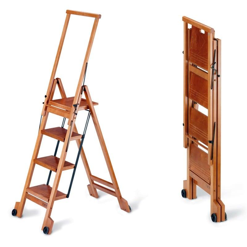 Scala quattro gradini con ruote richiudibile biblio 4 for Obi addobbi natalizi