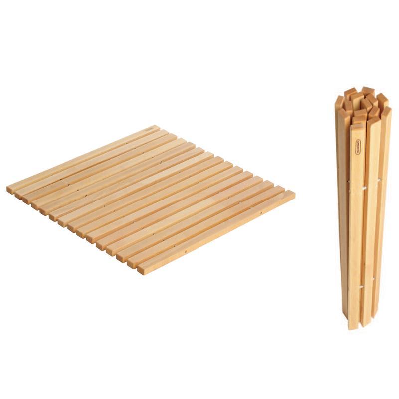 pedana doccia legno riciclo : Pedana Doccia 60x60 cm Avvolgibile in legno di Faggio trattamento Anti ...