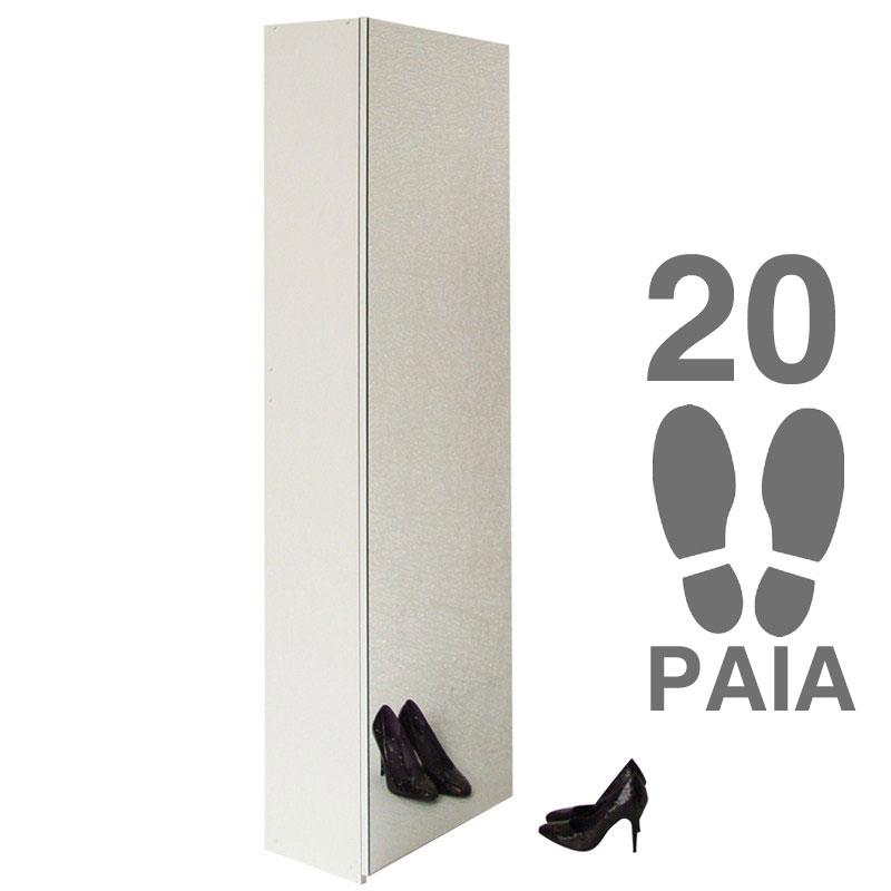 Scarpiera a specchio 50x29xh180 cm contiene 20 paia colore Bianco ...