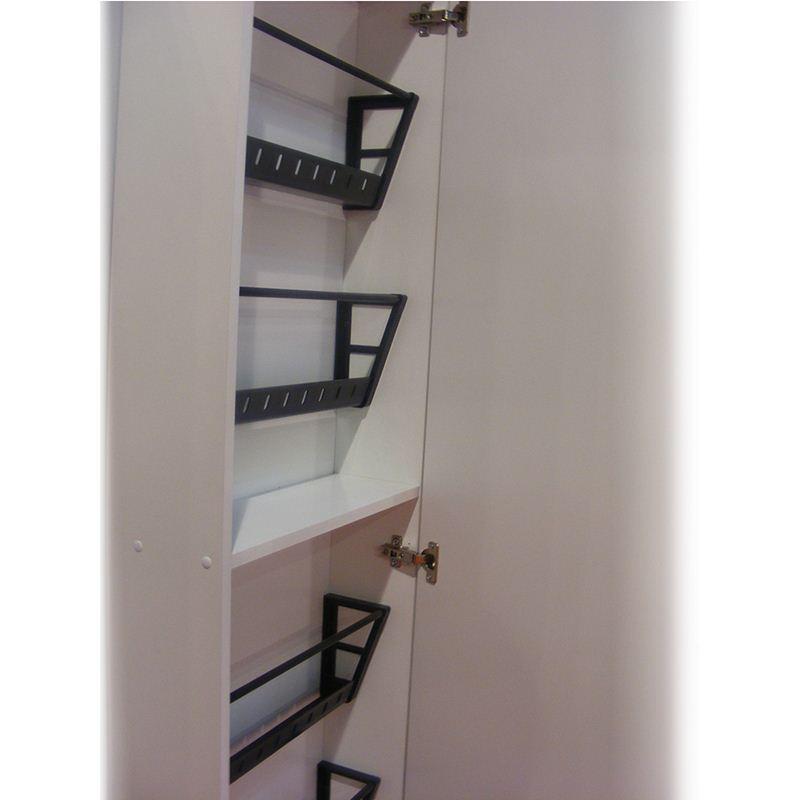 Scarpiera specchio 50x18xh180 cm contiene 10 paia colore - Scarpiera specchio bianca ...