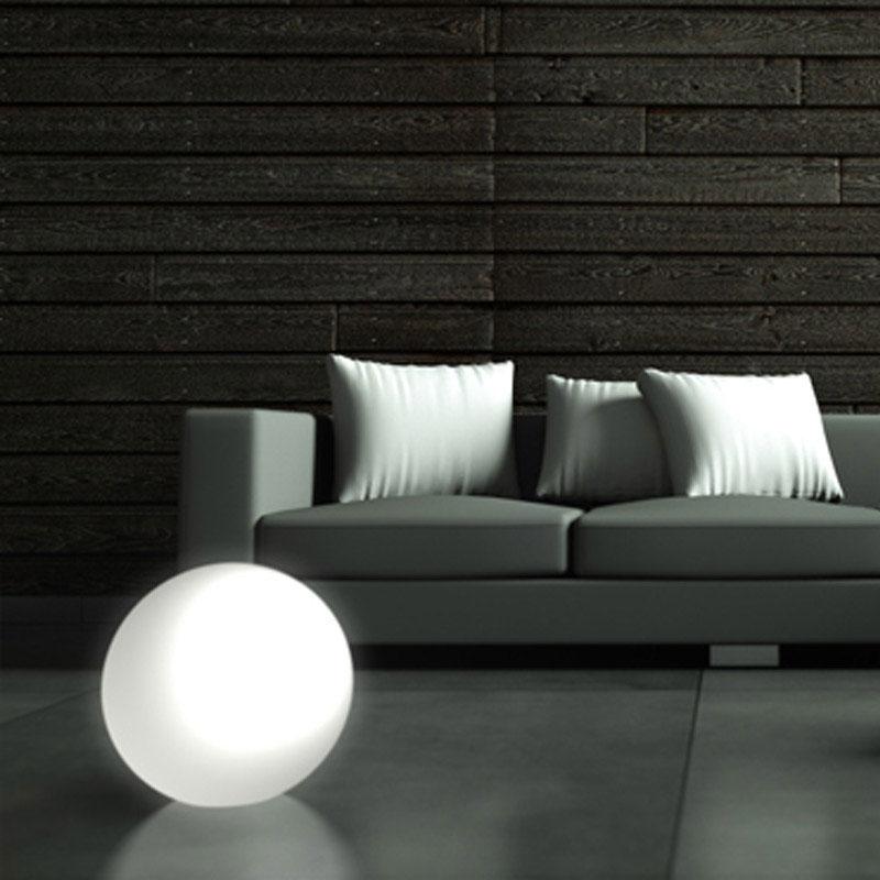 Lampada sfera moon per interno esterno 30cm colore bianco - Colore esterno casa bianco ...