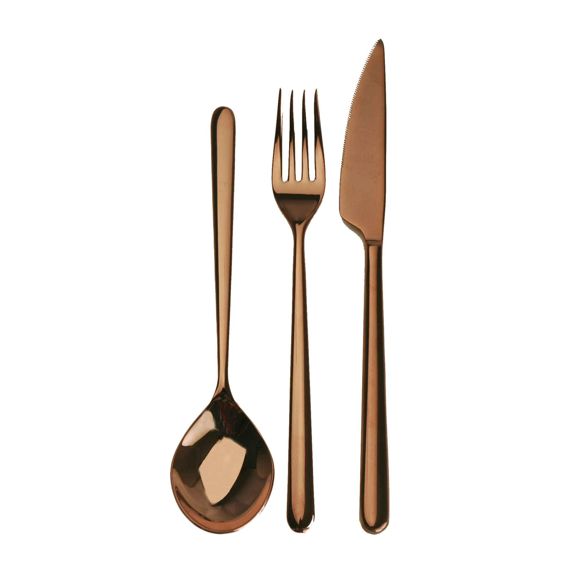 Servizio 151 pezzi linea bronzo Linea Bronzo in Acciaio Inossidabile, colore Bronzo, Lavorazione della su