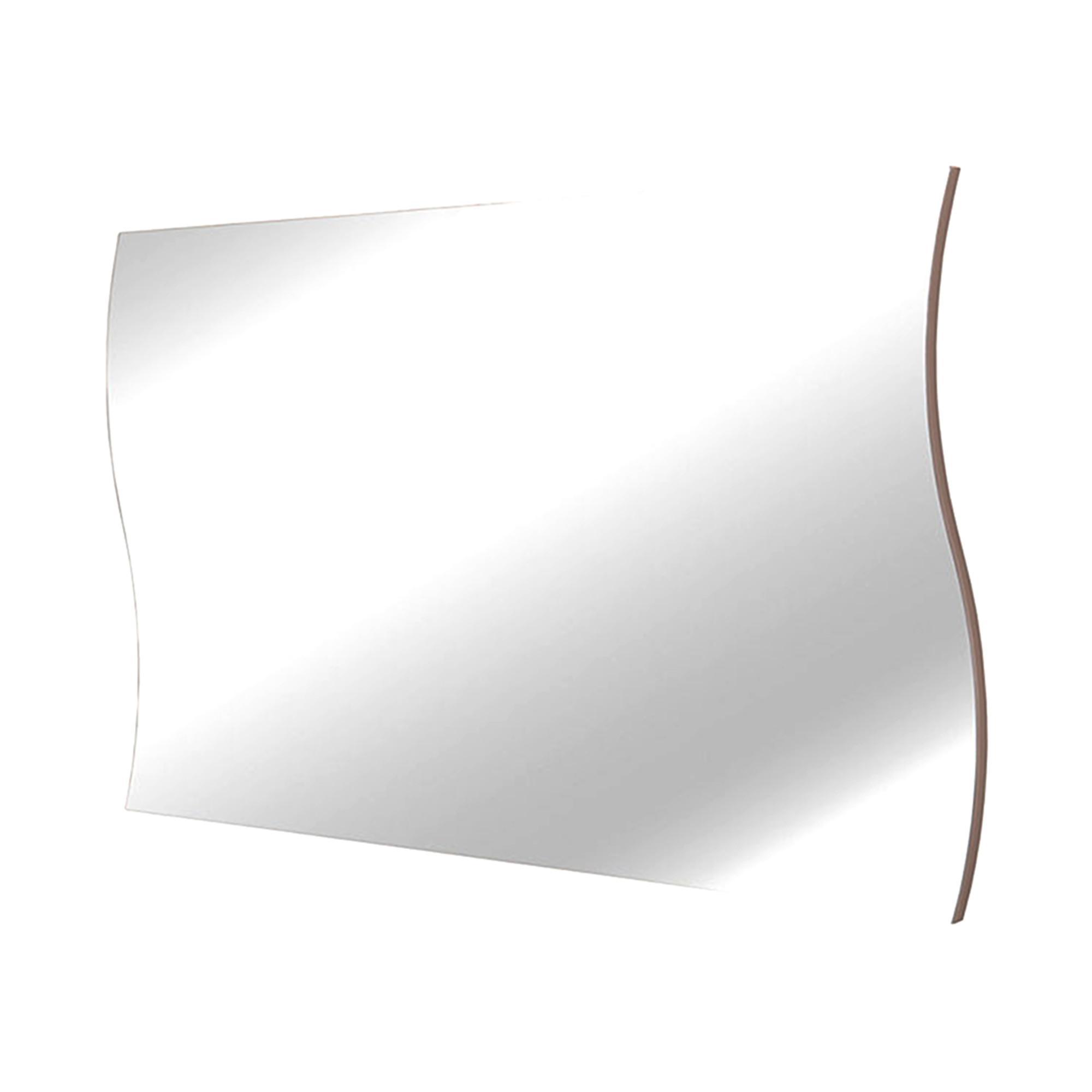 Specchio da muro onda 71x2x60cm con bordo laterale rovere for Specchio da parete 180 cm