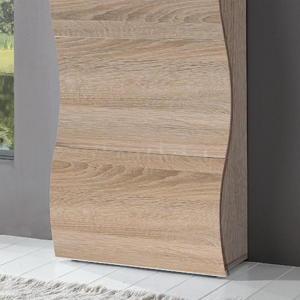 Scarpiera 4 ante 71x28xh162 cm in legno Rovere Segato ONDA 24 paia ...