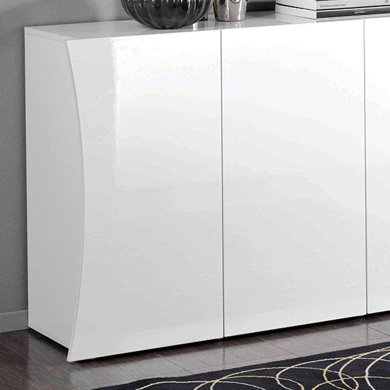 Mobile 3 ante 130x40xh82 cm arco in melaminico laccato bianco ...
