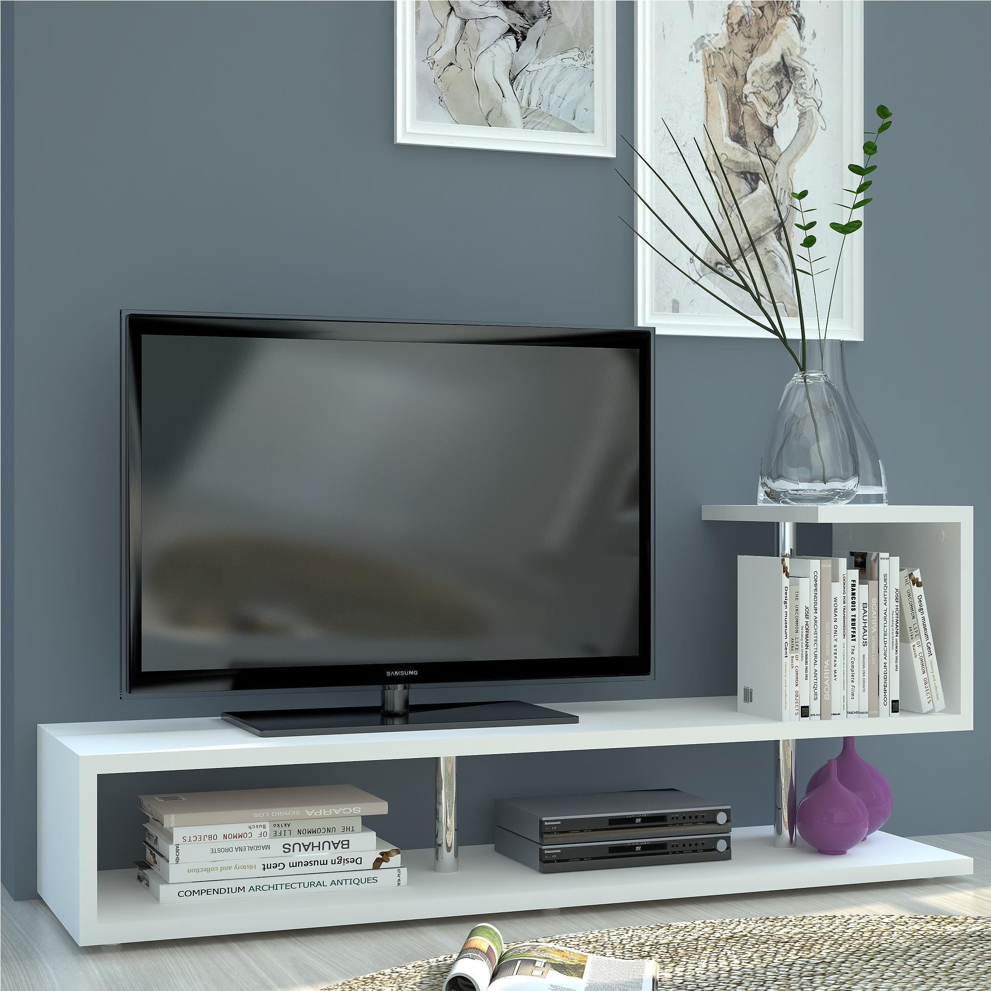 Mobili E Supporti Tv.Mobile Porta Tv Aperto In Legno Melaminico 130x40xh58 7 Cm Colore