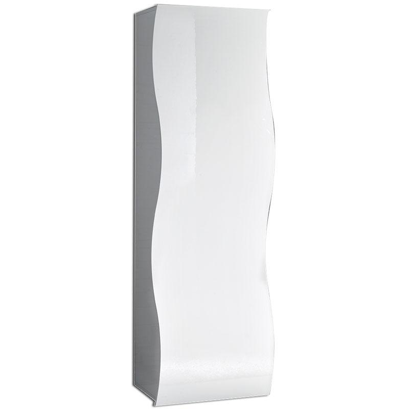 Armadio bianco in melaminico laccato bianco lucido ONDA h185  Tecnos Arredam...