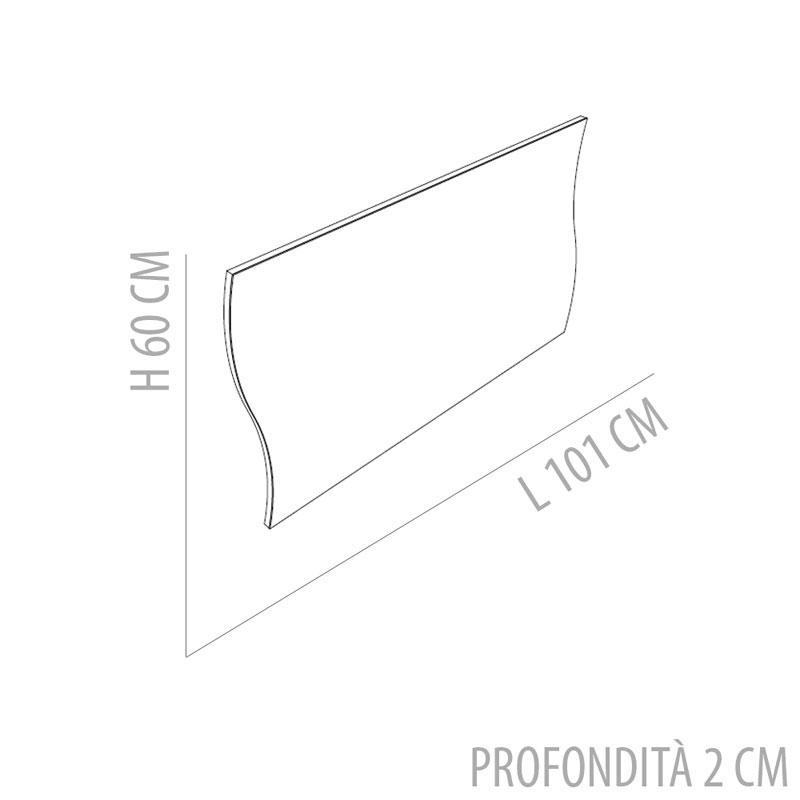 specchio a onda da muro : Specchio da Muro ONDA 101x2x60cm bordo Bianco Tecnos Arredamento ...