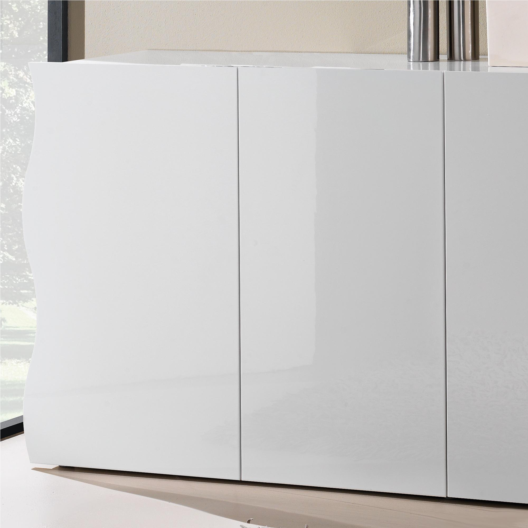 Mobile 4 ante camera soggiorno 190x44xh81cm ONDA in melaminico laccato  bianco lucido | Tecnos Arredamento
