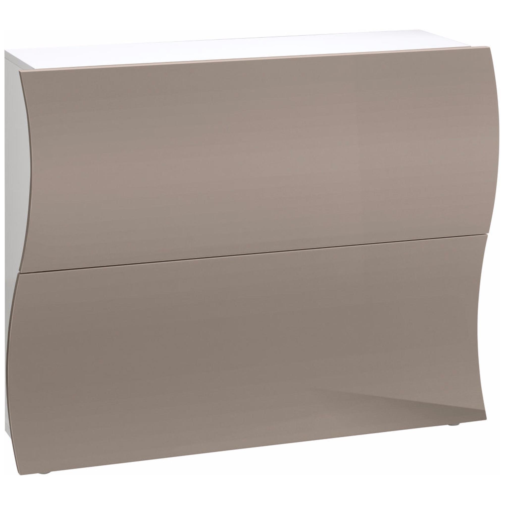 Scarpiera 2 ante 110x27xh82 cm in legno Laccato Bianco cappuccino ...