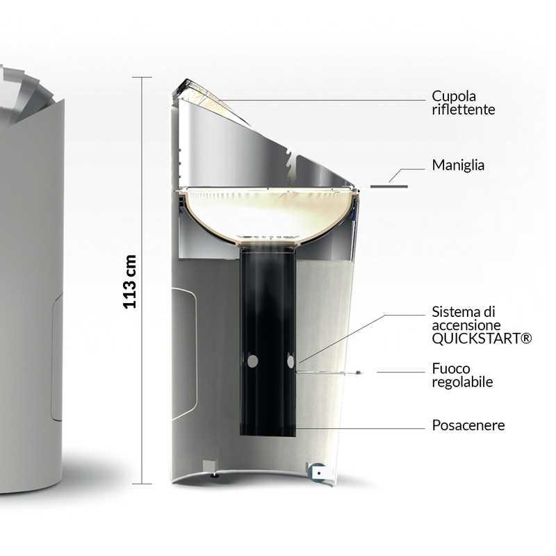barbecook puuur arctic white diametro 50 h105 cm adatto. Black Bedroom Furniture Sets. Home Design Ideas