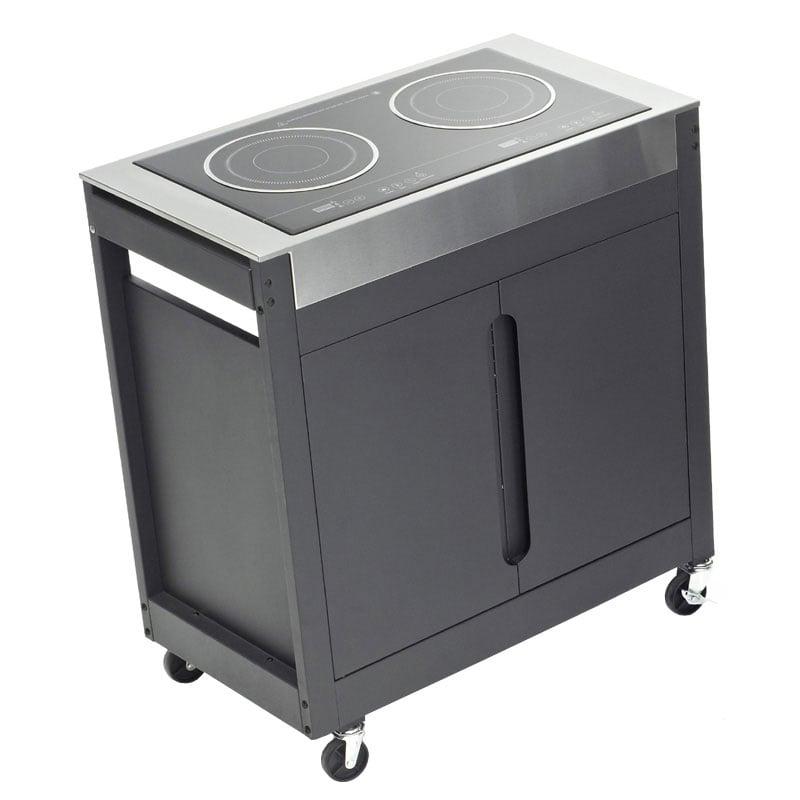 Piano cottura induzione con mobile barbecook barbecue for Piano cottura per esterno