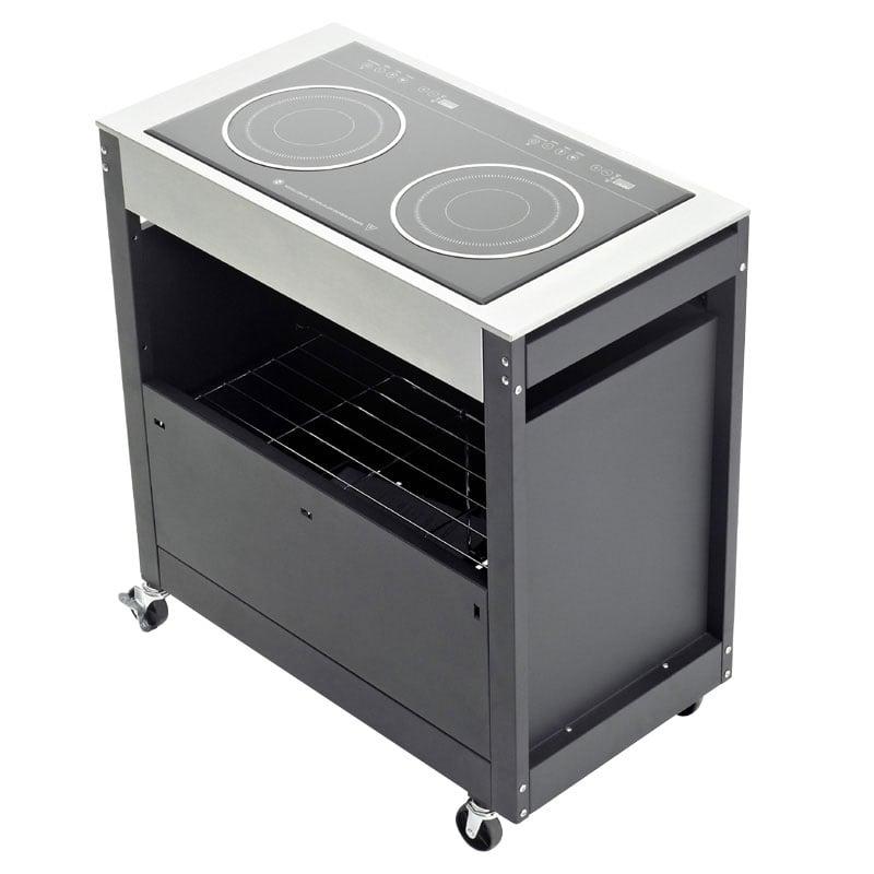 Piano cottura induzione con mobile barbecook barbecue - Piano cottura per esterno ...