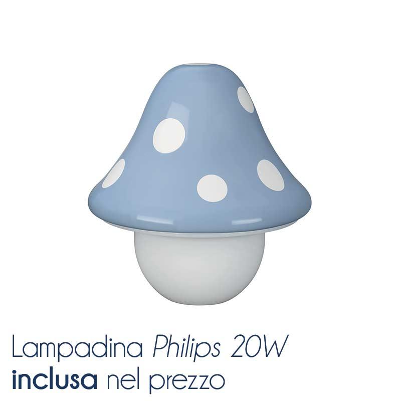 Lampada da tavolo Funghetto azzurro  Massive by Philips ...