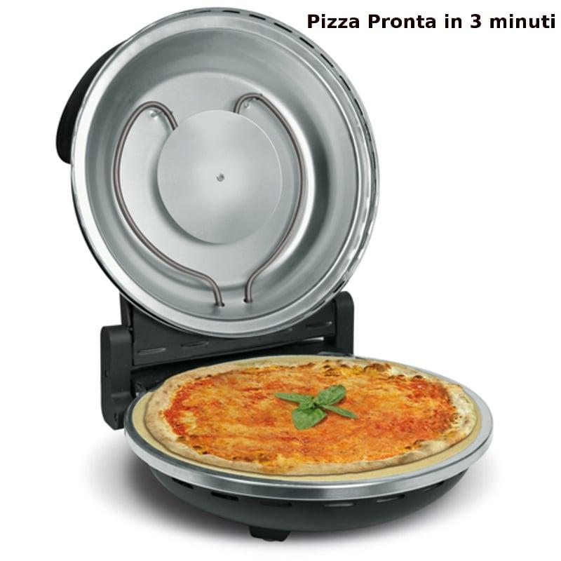 Forno pizza elettrico nerone con piastra refrattaria e for Temperatura forno pizza