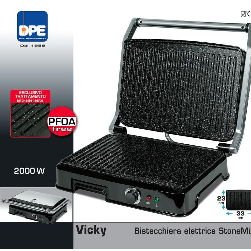 Bistecchiera bistecchiera elettrica vicky 38x35xh13 cm con for Bistecchiera elettrica