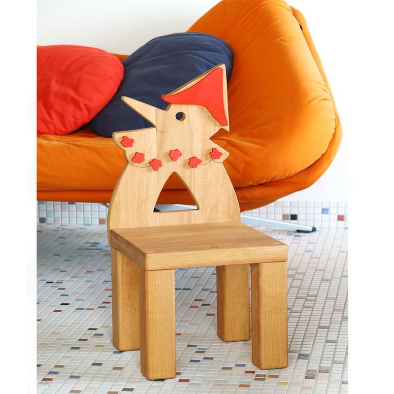 Sedia In Legno Per Bambini Pinocchio In Legno Di Faggio