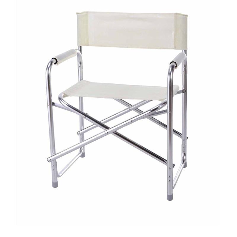 Sedia regista bonera bianca in alluminio marca design for Sedia design bianca
