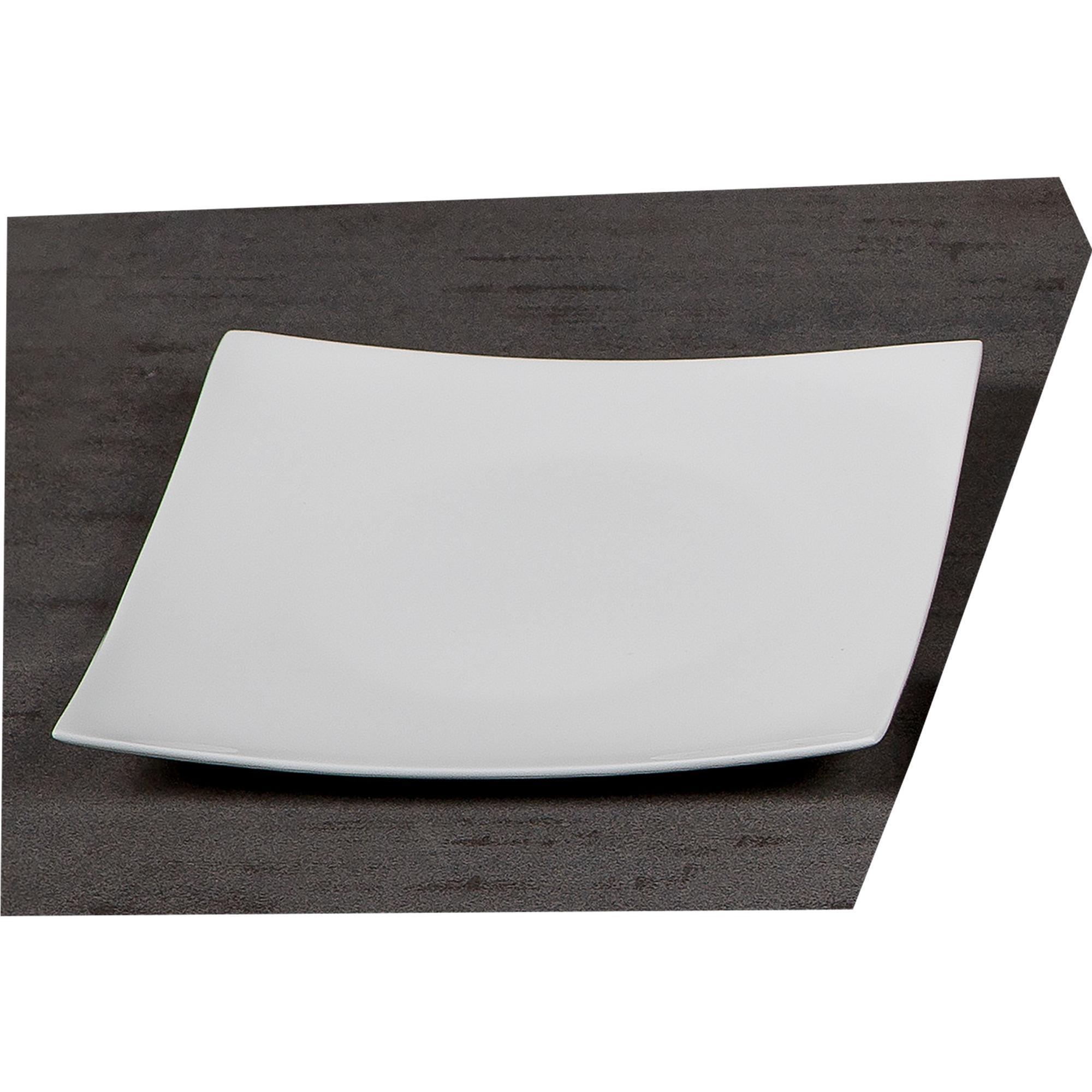 Piatti piani quadrati in porcellana elisabeth 6 pezzi for Piani cucina quadrati