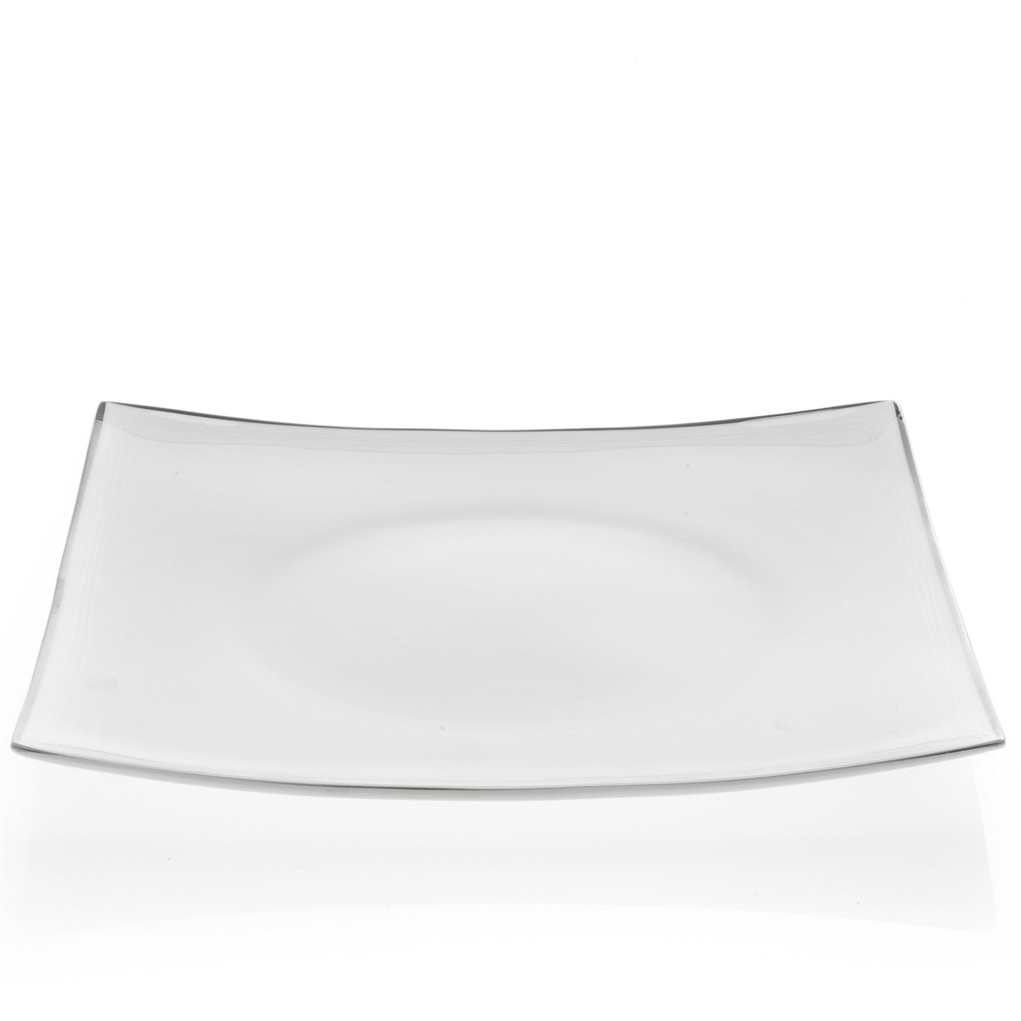 Piatti piani quadrati in porcellana elisabeth filo platino for Piani cucina quadrati
