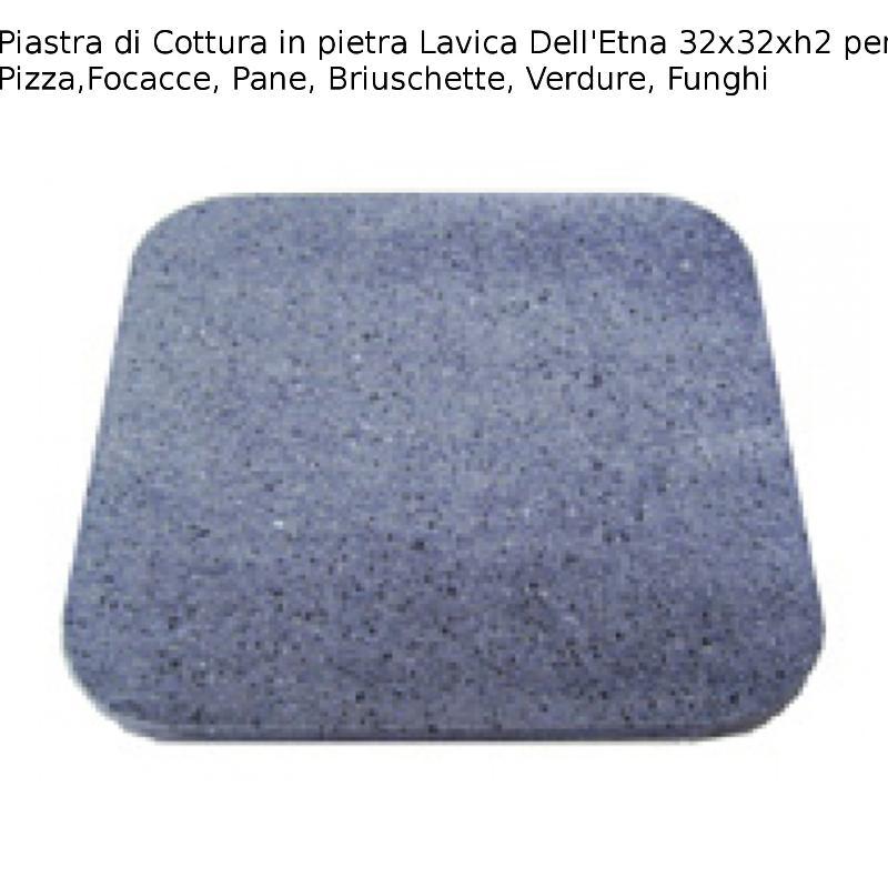 Piastra di cottura in pietra lavica dell etna pizza - Piastra refrattaria per forno casalingo ...