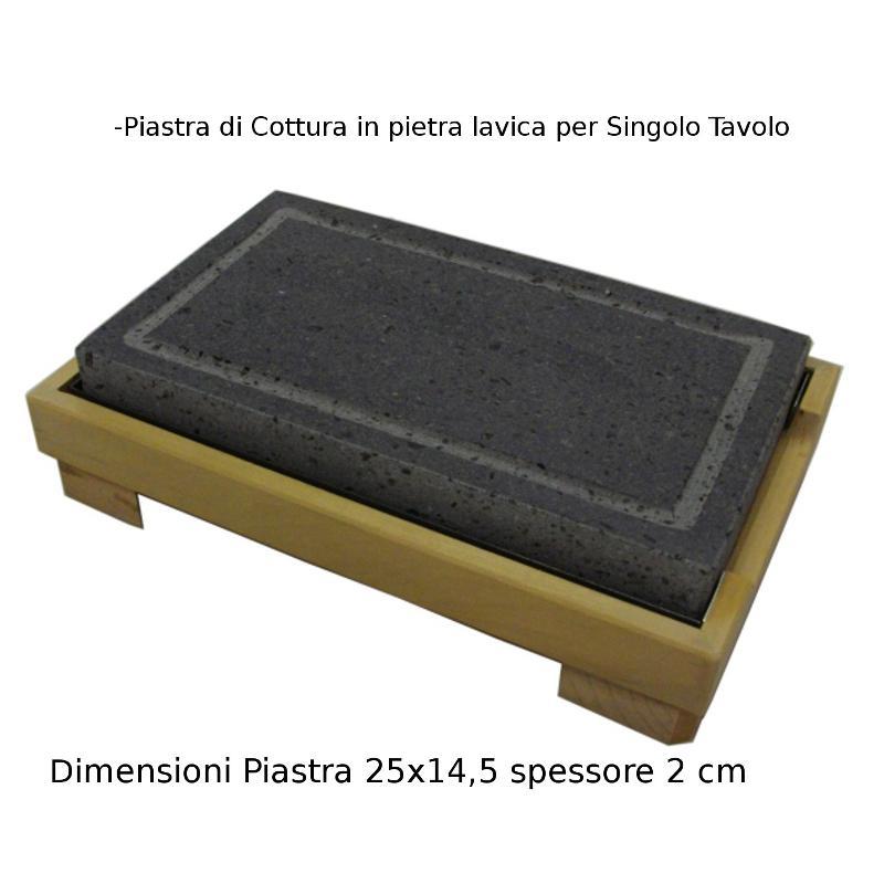 Piastra di cottura in pietra lavica delletna cm - Piastra per cucinare ...