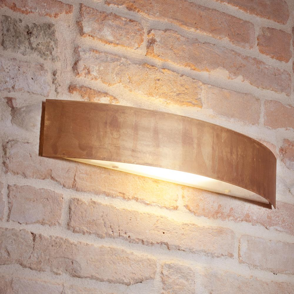 Applique da muro lola 48x10xh9 cm in ottone ossidato for Applique muro