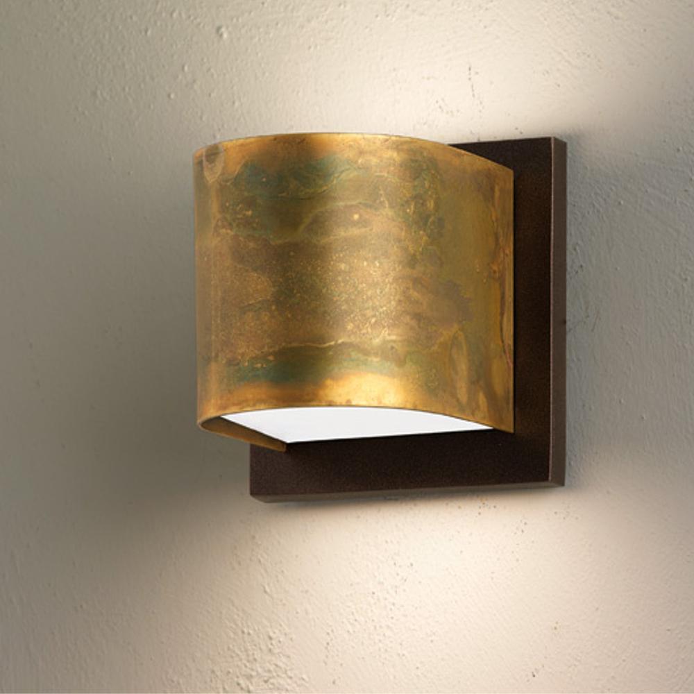 Applique da muro lola 48x10xh9 cm in ottone ossidato for Applique da parete legno