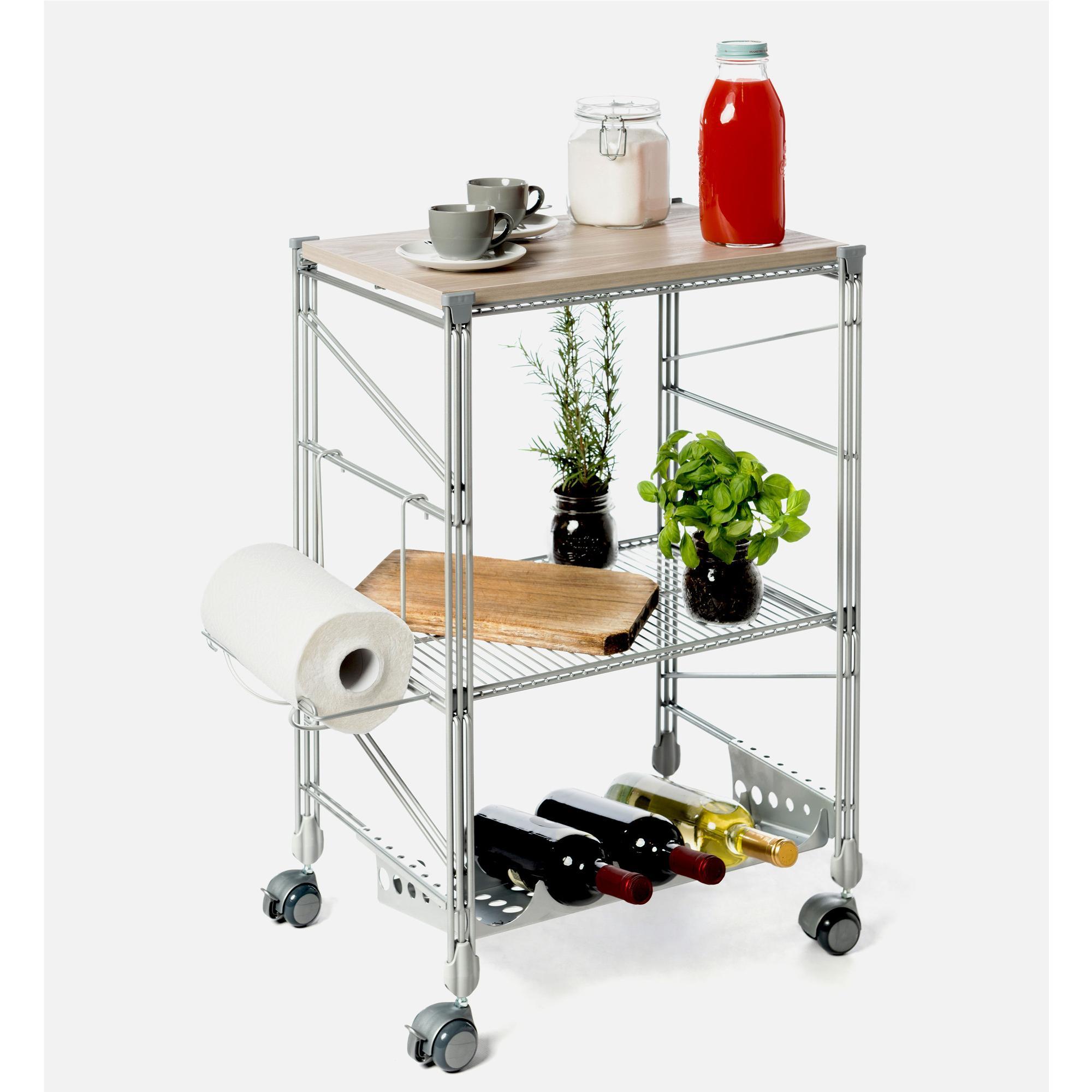 Carrello da cucina con tagliere in legno yosemite for Ikea carrello cucina