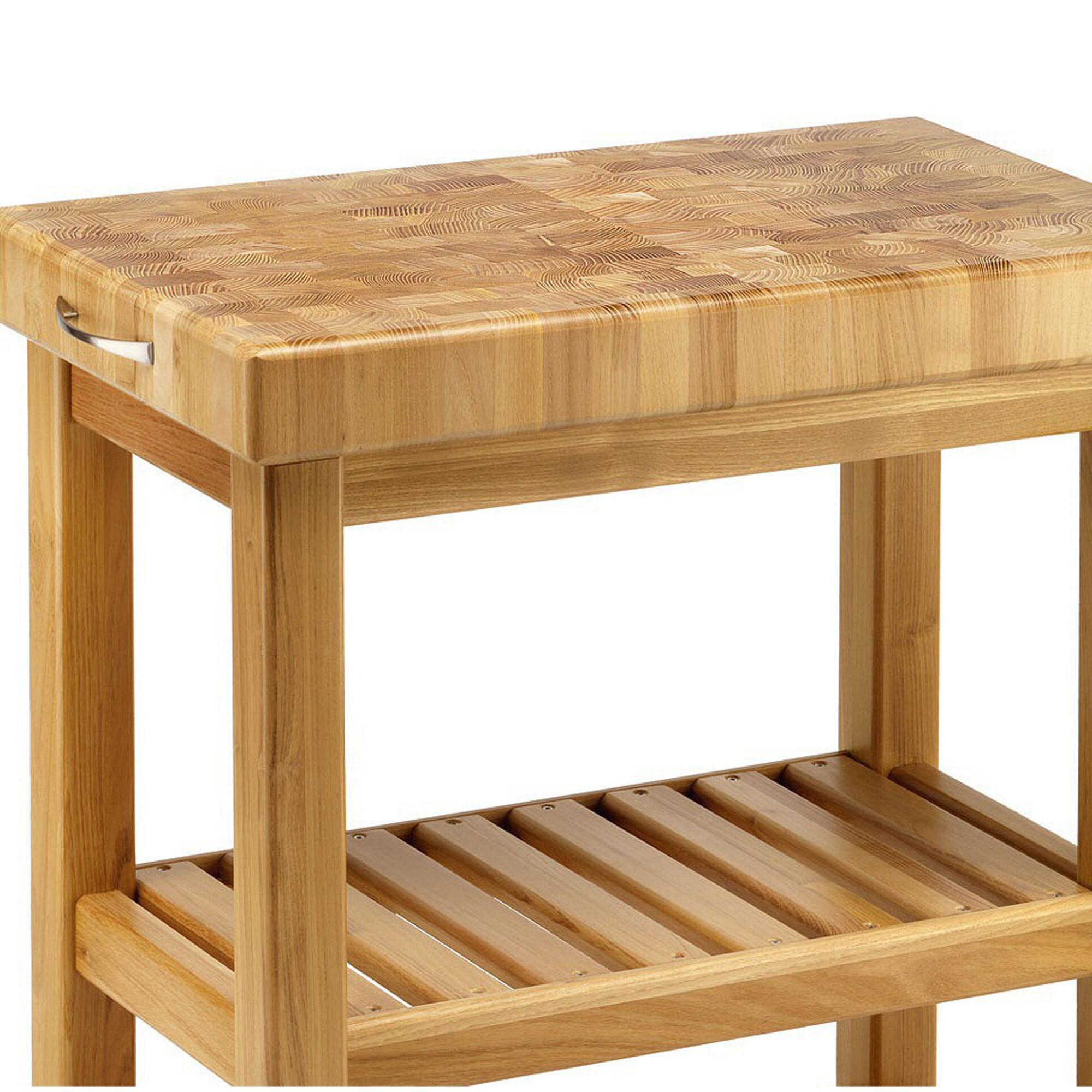 Carrello da cucina in legno massello 70x40xh85 cm con tagliere in legno spagnoli snc - Carrelli x cucina ...