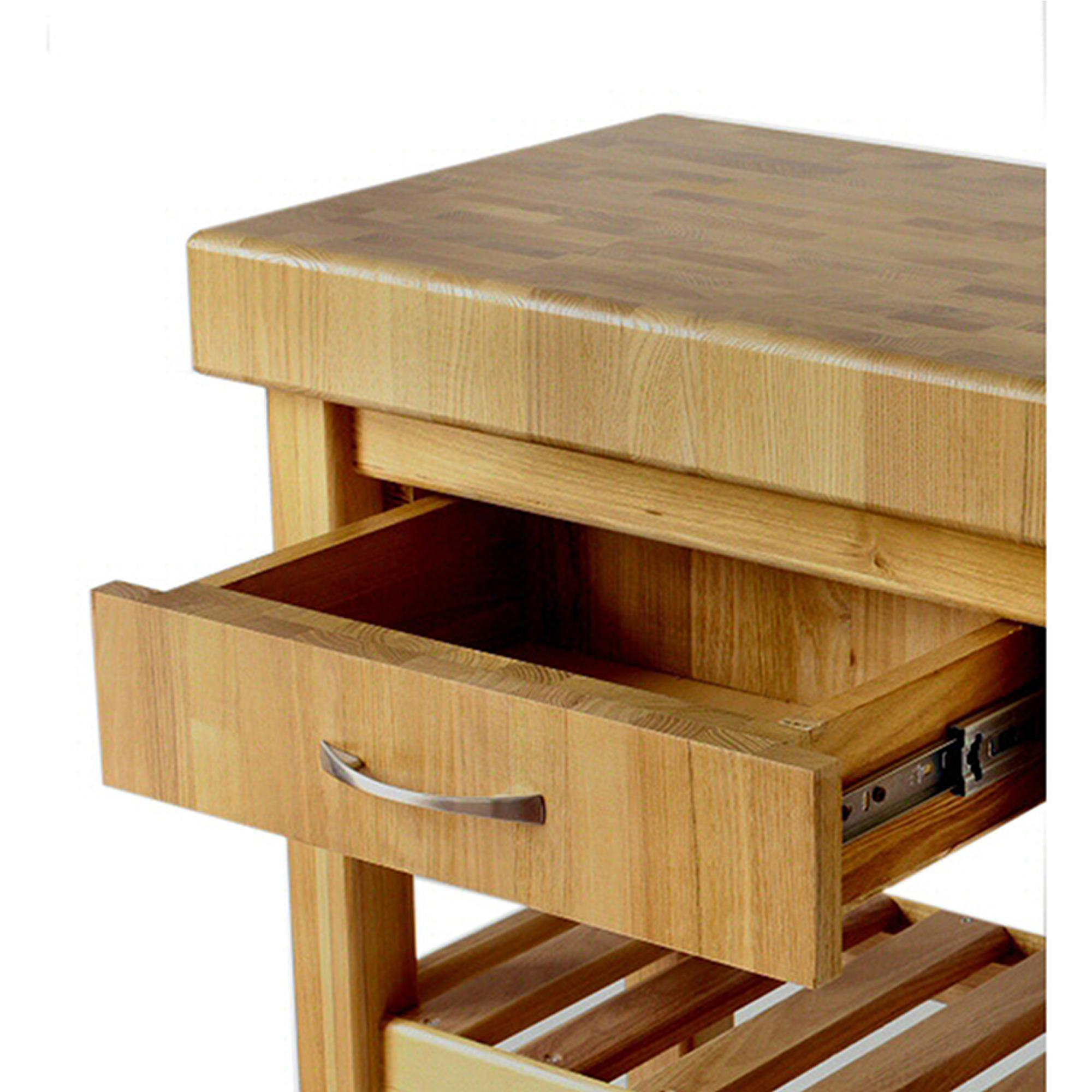 Carrello da cucina in legno massello con cassetto 60x40xh85 cm con ...