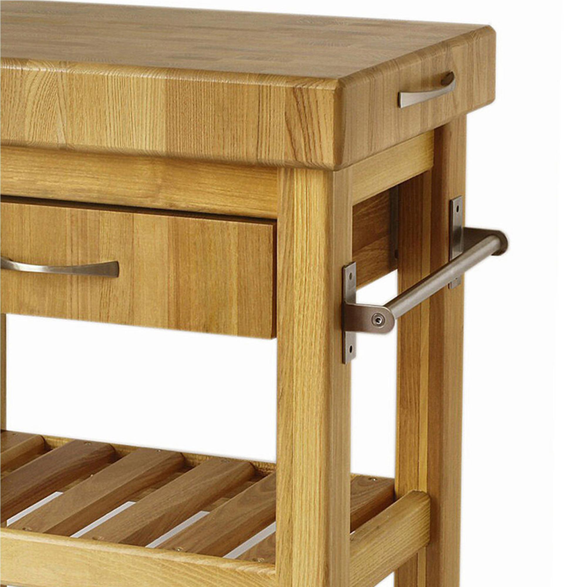 Carrello da cucina in legno massello con cassetto 60x40xh85 cm con tagliere  in legno | Spagnoli snc
