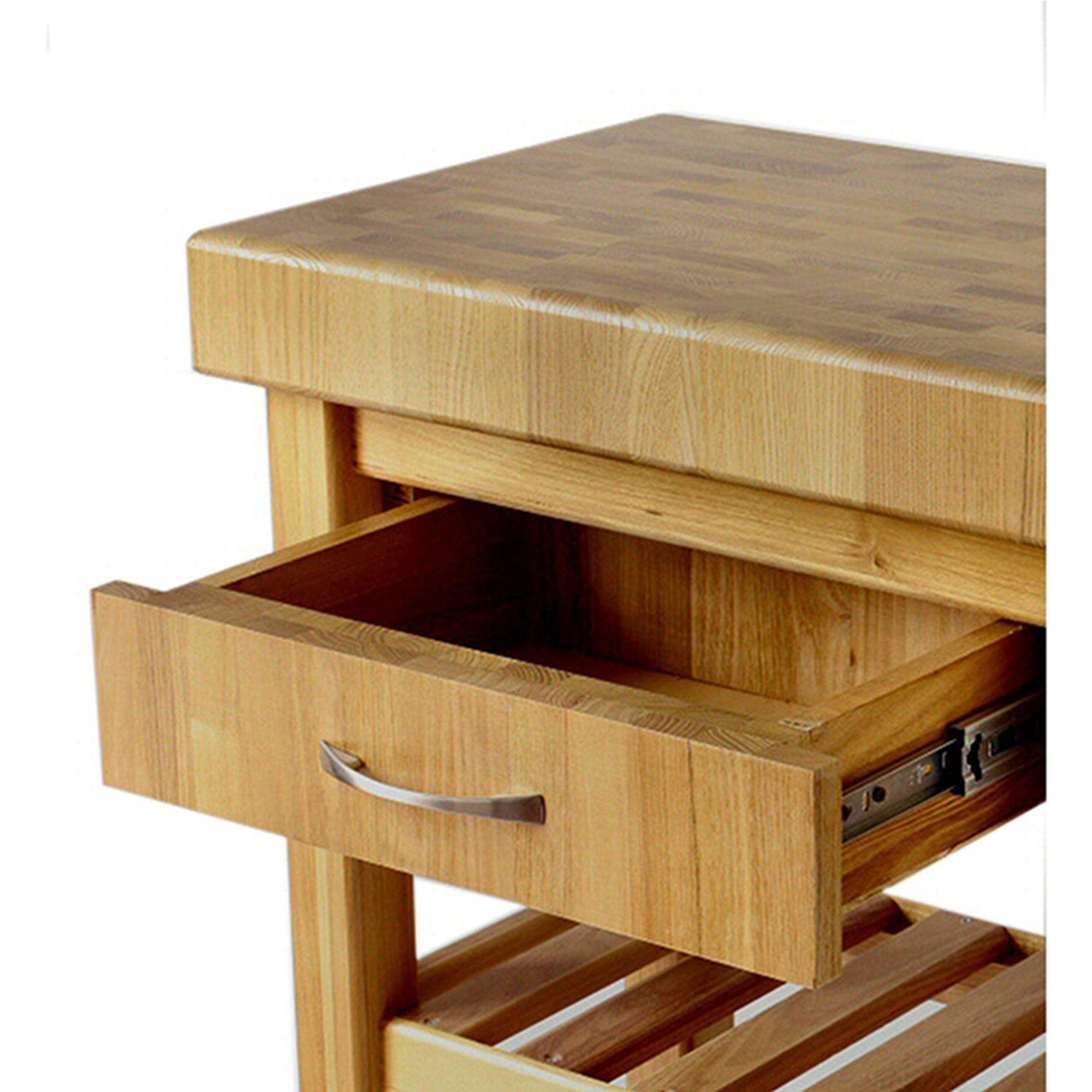 Carrello da cucina in legno massello con cassetto 60x50xh85 cm con ...