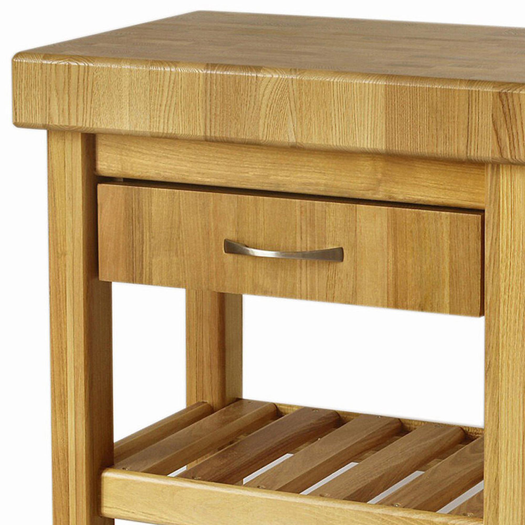 Connu Carrello da cucina in legno massello con cassetto 60x50xh85 cm con  RR66