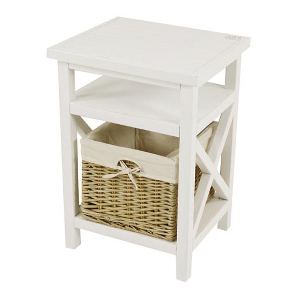 Mobiletto in legno agata con cassetto cesto estraibile - Mobiletti in legno ...