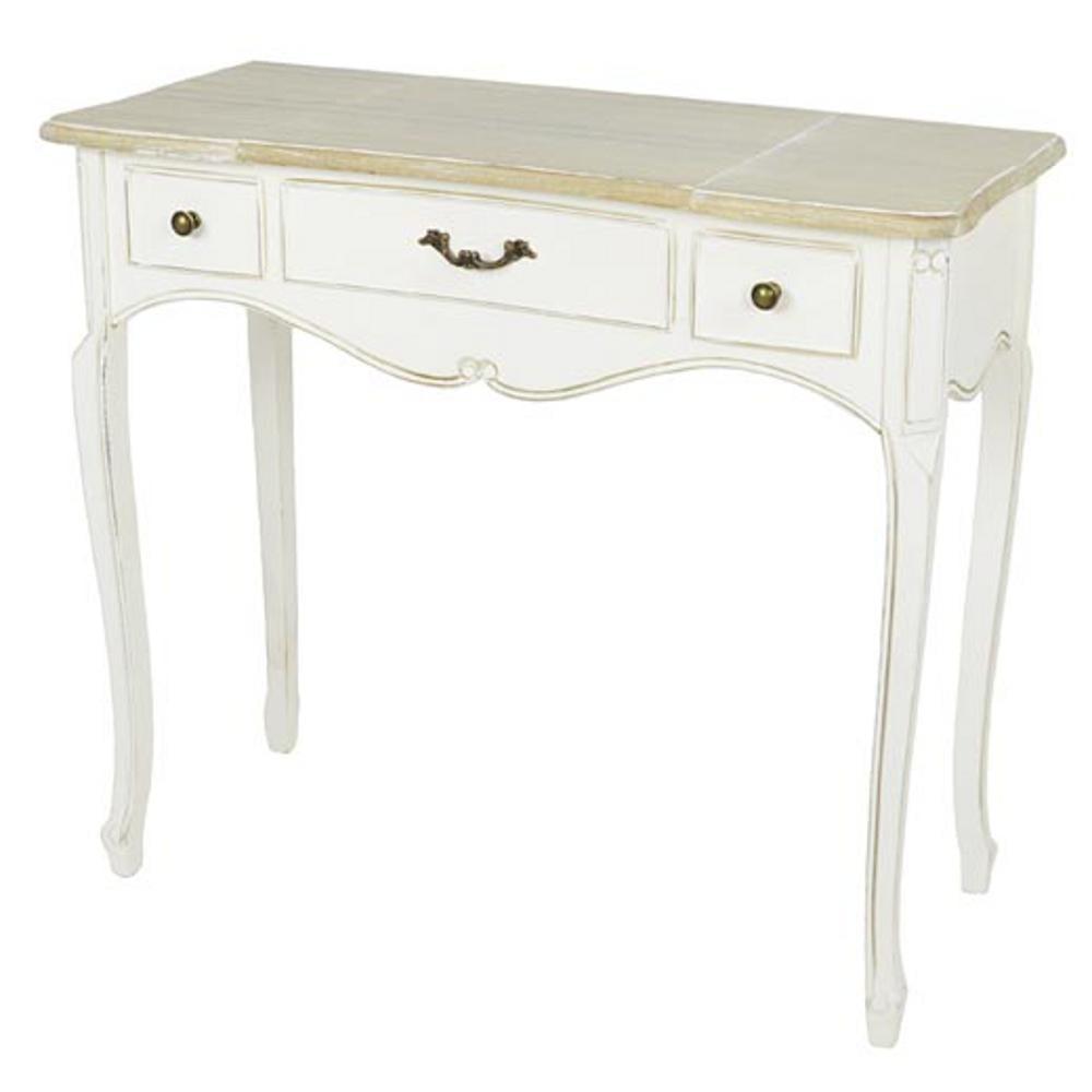 Consolle toilette tavolo in legno con 3 cassetti caterina for Tavolo consolle 80 cm