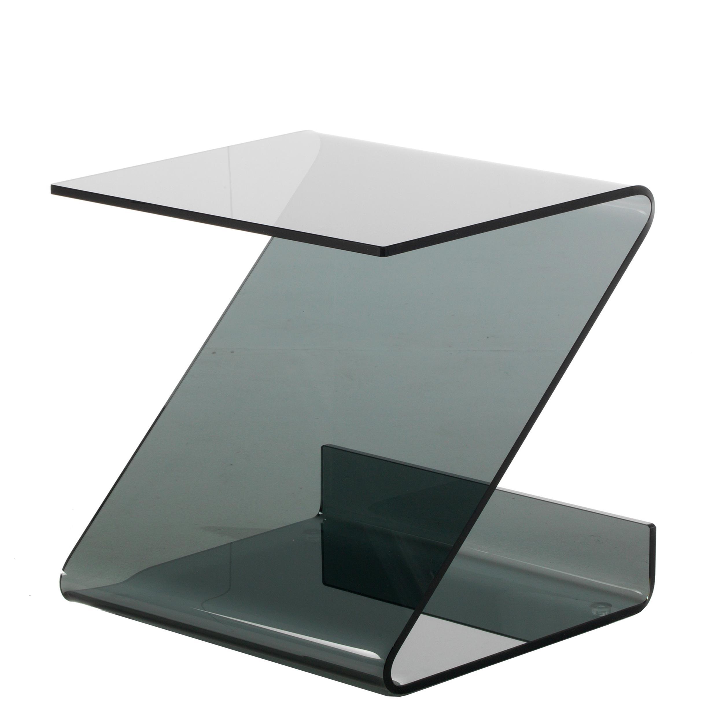 tavolino in vetro Curvato grigio 10 mm 45x39xh45 cm grigio trasparente |  Vetro Curvato
